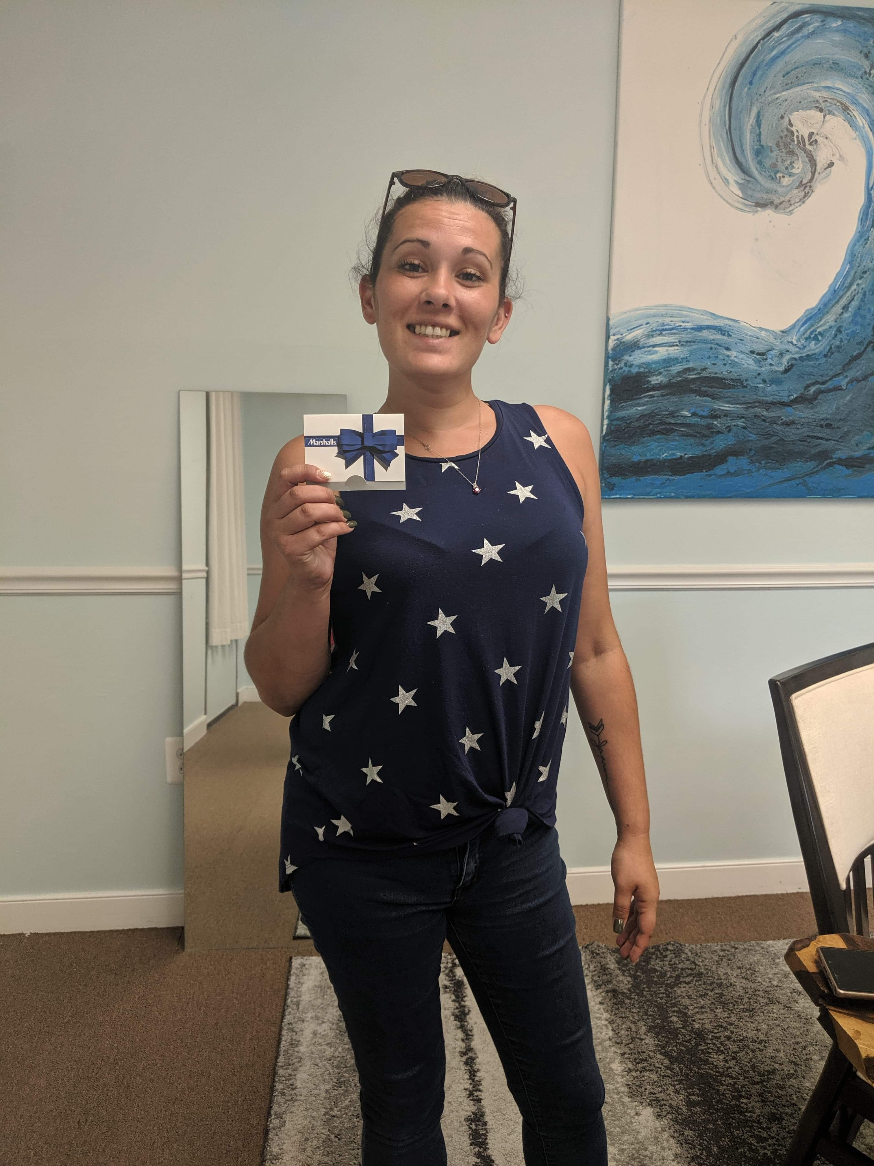 Ashlee Garrett - fall/winter 2019 Referral Program winner at Sparks Insurance Agency - Lutherville - Timonium MD