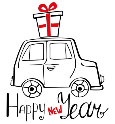 happy new year car